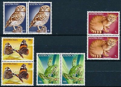 [H3373] Luxembourg 1985 : Fauna - 2x Good Set of Very Fine MNH Stamps in Pairs