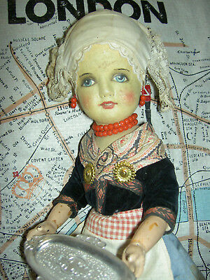 UNUSUAL, early 1920s super RARE, DEAN'S Rag Book character girl doll, all orig.