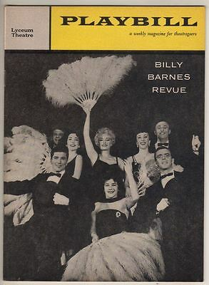 """Billy Barnes Revue""   Broadway  Playbill  1959  Bert Convy, Ken Berry"