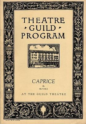 """Theatre Guild Playbill 1928 """"Caprice"""" Alfred Lunt & Lynn Fontanne by Sil-Vara"""