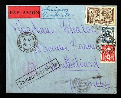 17530-INDOCHINA-AIRMAIL COVER SAIGON to MONTBELIARD (france).1932.WWII.Indochine