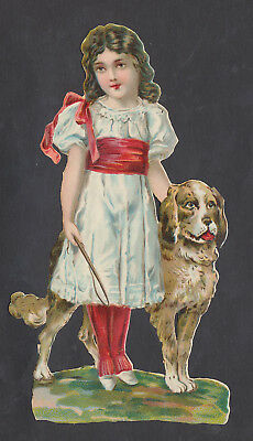 S8328 Victorian Die Cut Scraps: Large Girl with Dog