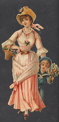S8330 Victorian Die Cut Scraps: Large Lady & Child