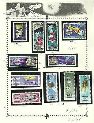 Mongolia ( Space Theme)- Accumulation ( Erratic) - 124 Stamps