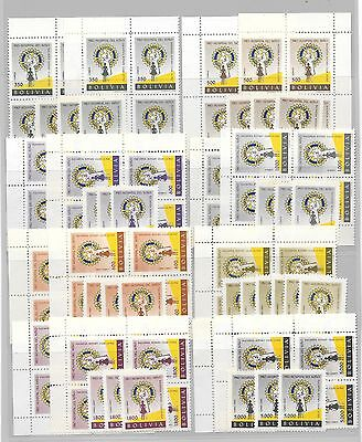 BOLIVIA-Nice quantity of Rotary Int'l Stamps/ 1960s, low price