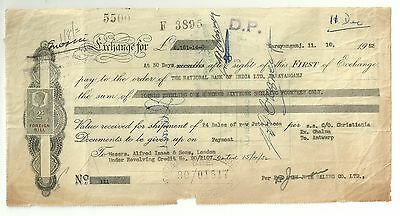 Pakistan- Great Britain- Stamped Bank Document ( 1952 )