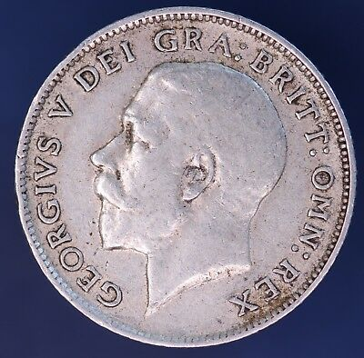 1914 George V Sixpence 6d NICE coin, 92.5% silver  *[10867]