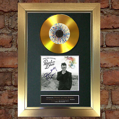 GOLD DISC PANIC AT THE DISCO Album Signed Autograph Mounted Repro A4 #127