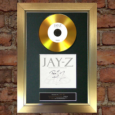 GOLD DISC JAY Z The Hits Collection Album Signed Autograph Mounted Repro A4 #128