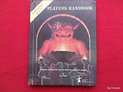 Vintage | Tsr | 1978 Advanced Dungeons & Dragons Player's Handbook 6Th Printing