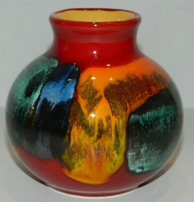 Poole Pottery England Anita Harris GEMSTONE Small Bulbous Colorful Vase - 4""
