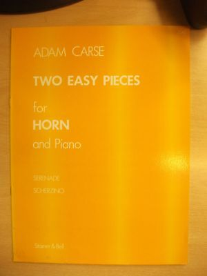 CARSE 'Two Easy Pieces' FHorn & Piano Sheet Music pub.  Stainer & Bell