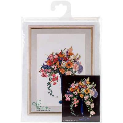 """Summer On Aida Counted Cross Stitch Kit 13""""X19"""" 18 Count 499994656322"""