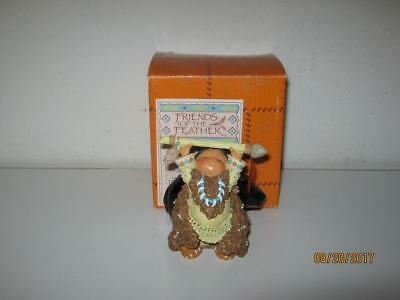 Enesco Friends Of The Feather-Bears Great Wisdom-Indian With Bear Fetish-W/box