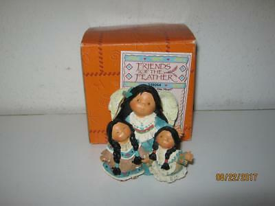 Enesco Friends Of The Feather-Three Voices,one Heart-Angel With Children-W/box