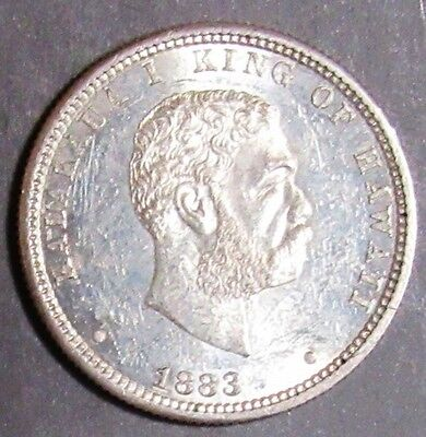 1883 Hawaii Quarter King Kalakana Very Choice Au
