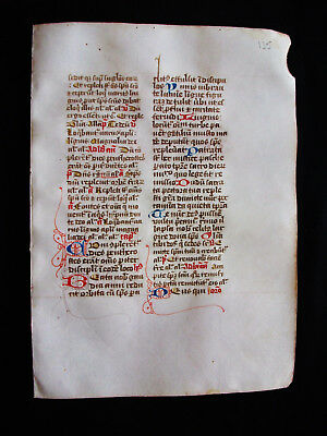 "1280 AMAZING Medieval Vellum, rare ""Original Leaf"" from a Book of Hours...G29"