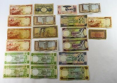 Lot Of 21   - Lebanon And Syria Currency - Vg To Au