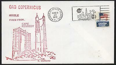 Ersttagsbrief USA OAO Copernicus Cape Kennedy Space Center 1972 Missile fired ..