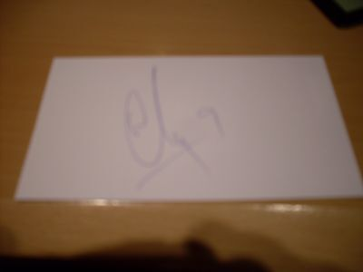 signed card of wigan and northern ireland footballer will grigg