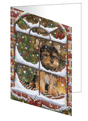 Please Come Home For Christmas Yorkshire Terriers Dog  10 Cards
