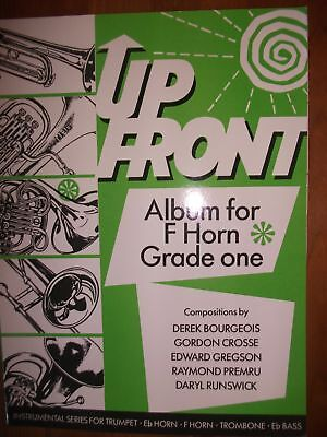 UP FRONT ALBUM Book 1 for Horn in F & Piano pub. Brass Wind