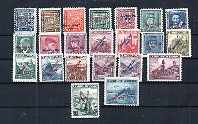 Wwii Slovakia 1939 Scott# 2-23 Complete Set. Expertised. See Both Scans. Mnh.