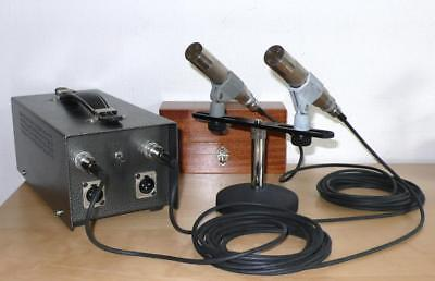 Pair of Neumann MKD MV101 tube microphones / complete set with custom-made PSU