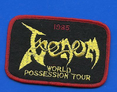 Venom World Possession Tour vintage 1980s sew-on patch LIMITED EDITION OF 225