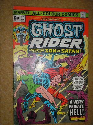 Ghost Rider # 17 Son Of Satan Champions Variant 1976 Bronze Age Marvel Comic Bk