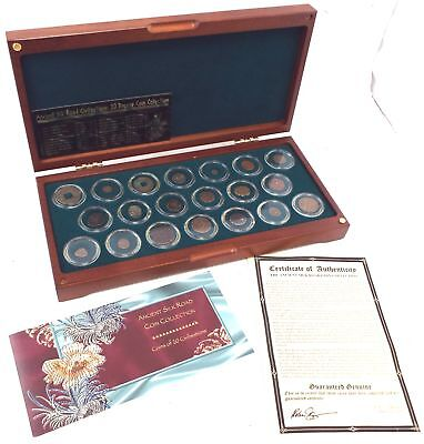 Ancient Silk Road Civilizations 20x BRONZE Coin Collection In Box With COA - W35