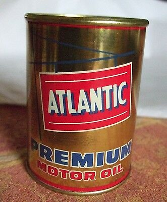 Vintage Atlantic Premium Motor Oil Tin Coin Bank Advertising Promo Mini