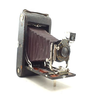 KODAK No. 3-A Model B-2 FOLDING POCKET KODAK RED MAROON BELLOWS Camera - H39