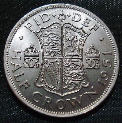 Excellent High Grade 1951 George Vi Halfcrown Proof-Like Coin