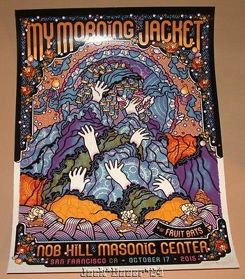 My Morning Jacket Guy Burwell San Francisco Poster Print Signed Numbered Night 3