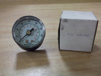 Numatics 214-103A Pressure Gauge 1-160PSI 0-11BAR  NEW