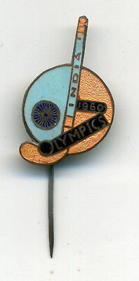 Olympic Games Roma 1960 (6) India Official Pin Badge Xvii Olimpiade