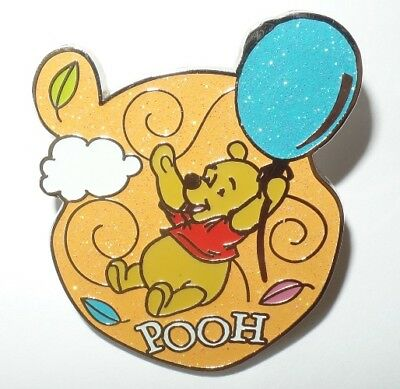 Disney Hong Kong Disneyland HKDL Winnie the Pooh Head with a Blue Balloon Pin