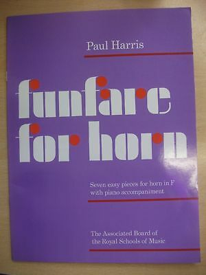 HARRIS 'Funfare' 7 Easy pieces for Horn in F & piano pub. ABRSM