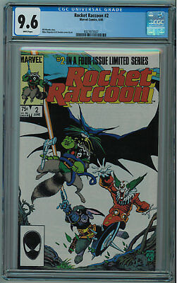 Rocket Raccoon #2 Cgc 9.6 2Nd Best Cgc Grade White Pages 1985