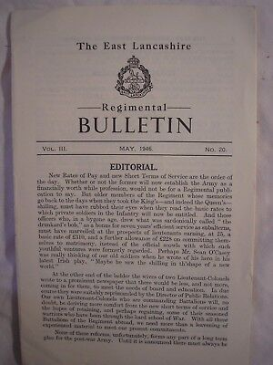 East Lancashire Regiment Bulletin 1945 Honours Award British Army History