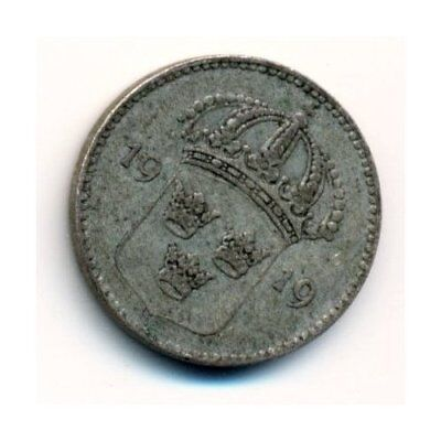 Sweden Swedish 10 ORE 1919 Coin FREE S&H!