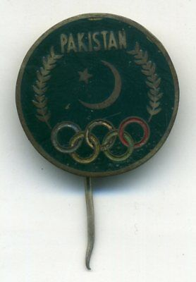 Olympic Games Roma 1960 (13) Pakistan Official Pin Badge Xvii Olimpiade