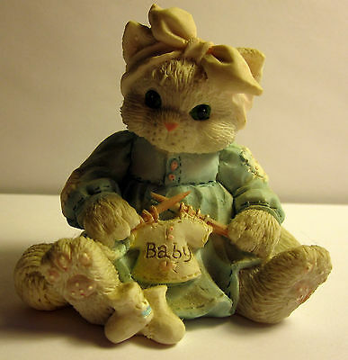 """Calico Kittens """"Hand Knitted With Love"""" #626023 from 1993"""