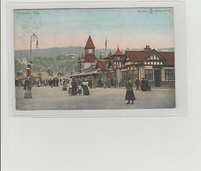 Rothesay Pierhead Animated Scene Postmarked Rothesay 1906 Sent To Rothie-Norman