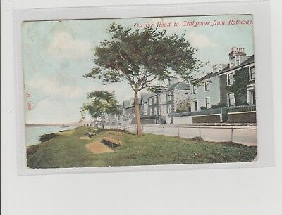 Rothesay On The Road To Craigmore Postmarked Ardrossan 1907 Hartmann Publisher