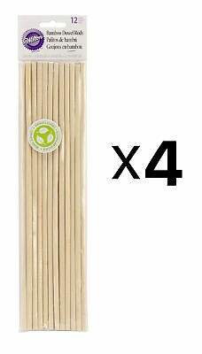 Wilton Bamboo Dowel Rods 12 Pack Eco-friendly Renewable Resource (4-Pack)
