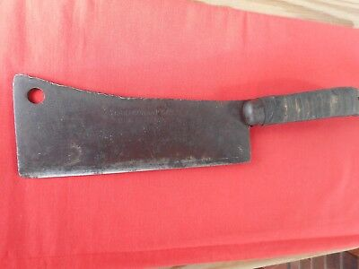 "Antique Henrichson B.p & S Meat Clever, Heavy Duty!!  9"" Blade, 15"" Overall"