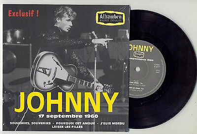 JOHNNY HALLYDAY.   45T Ep Exclusif !. ALHAMBRA  .17 septembre 1960. ROCK'N'ROLL