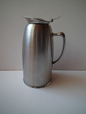 Winco Stainless Steel Lined Coffee Server Pot Carafe Silvertone 7.5 inches Tall
